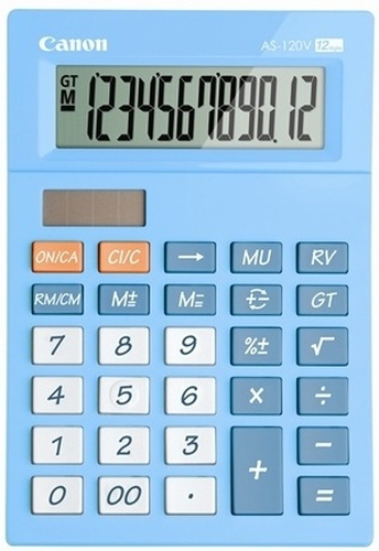 Canon AS-120V Bureau Calculatrice basique Bleu