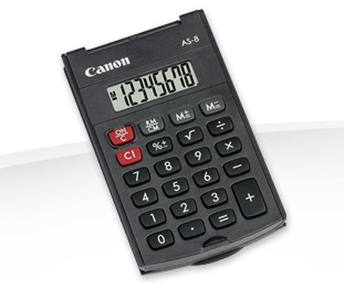 Canon AS-8 Poche Calculatrice basique Noir