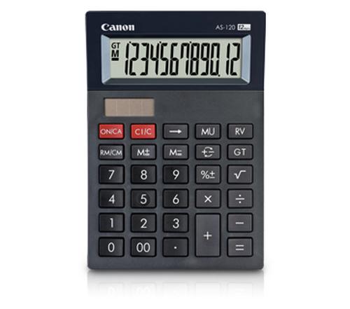 Canon AS-120 Bureau Calculatrice à écran Noir