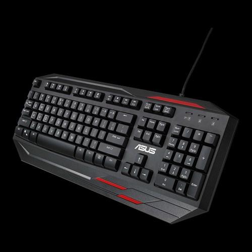 Specs ASUS Sagaris GK100 keyboard USB Black,Red Keyboards