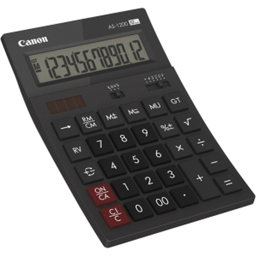 Canon AS1200HB Bureau Calculatrice basique Gris