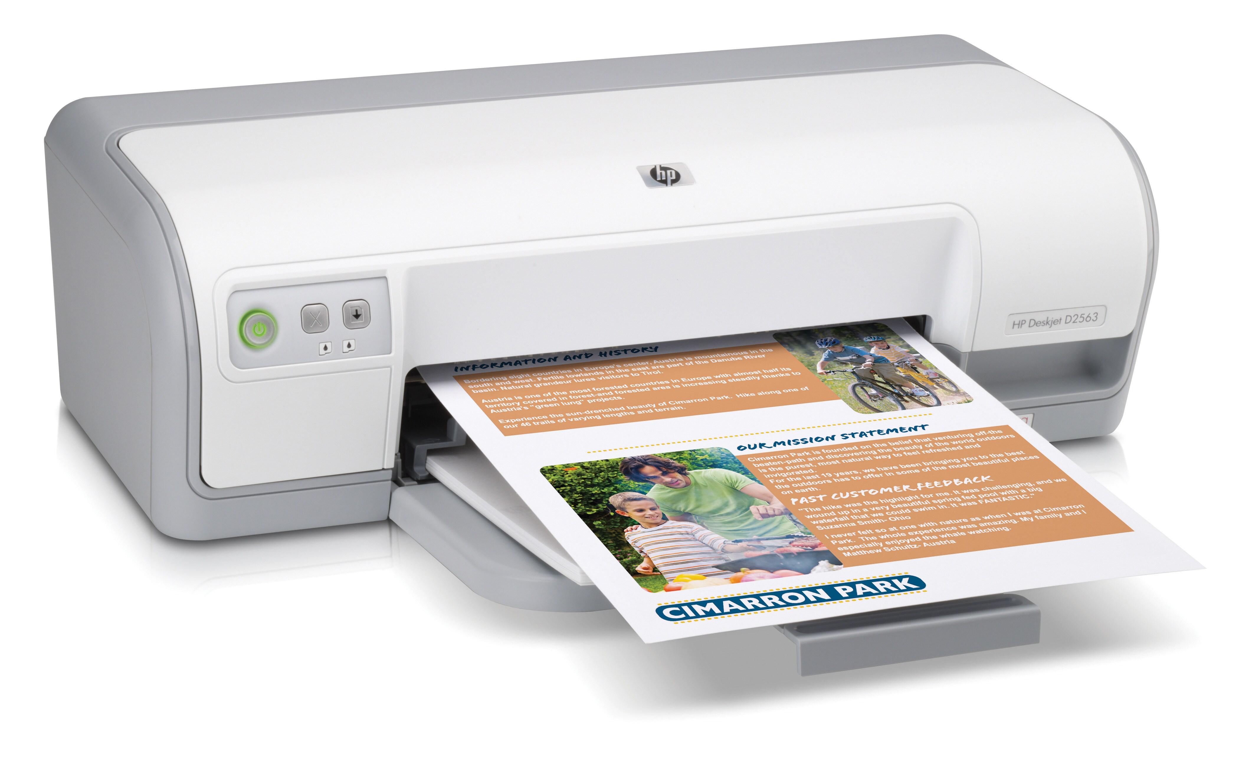Specs HP Deskjet D2563 Printer inkjet printer Inkjet