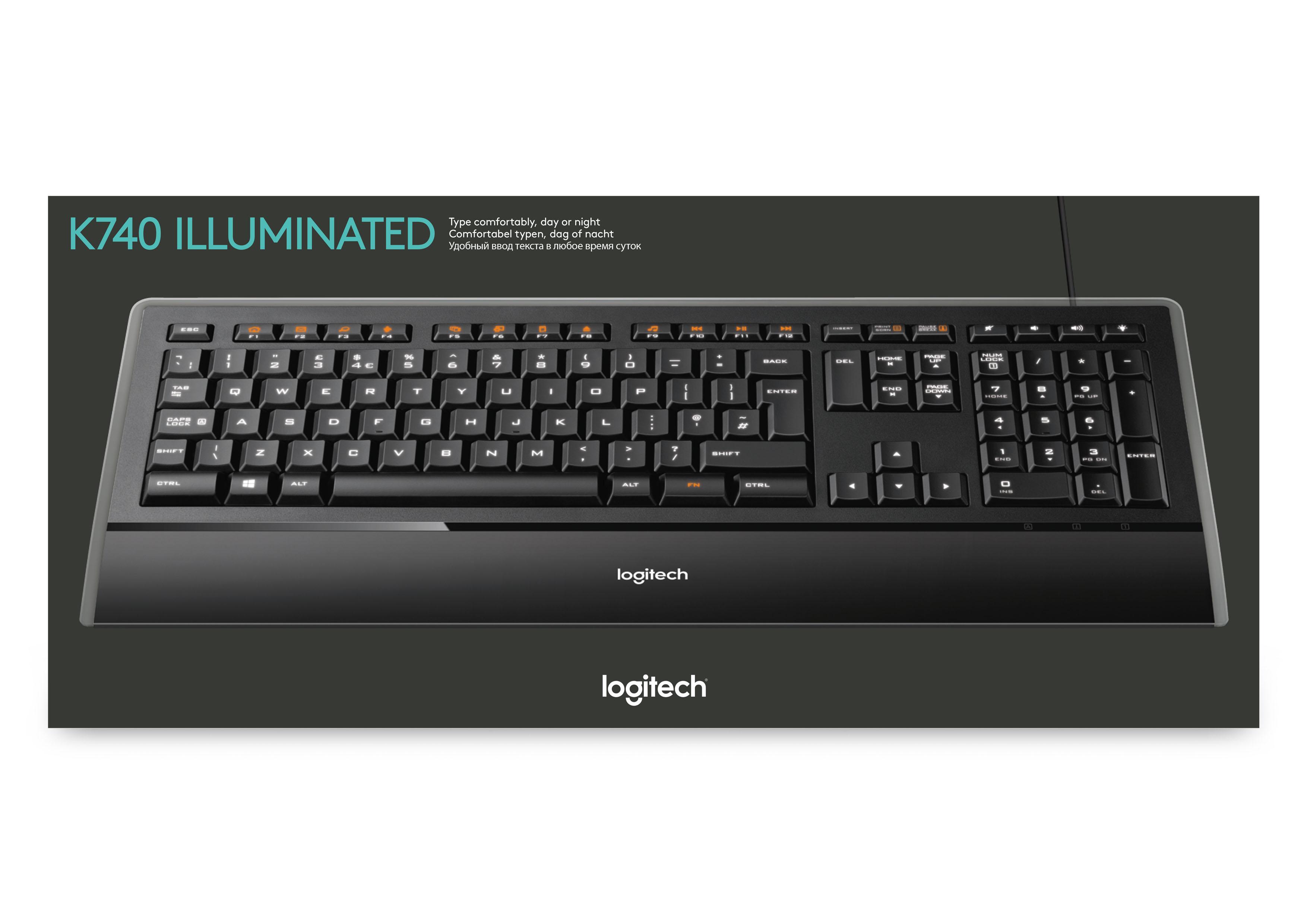 Logitech Illuminated K740 Tastatur Usb Deutsch Amazon De Computer Zubehor