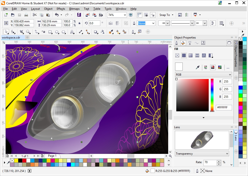 Product data Corel DRAW Home & Student Suite X7 Graphics