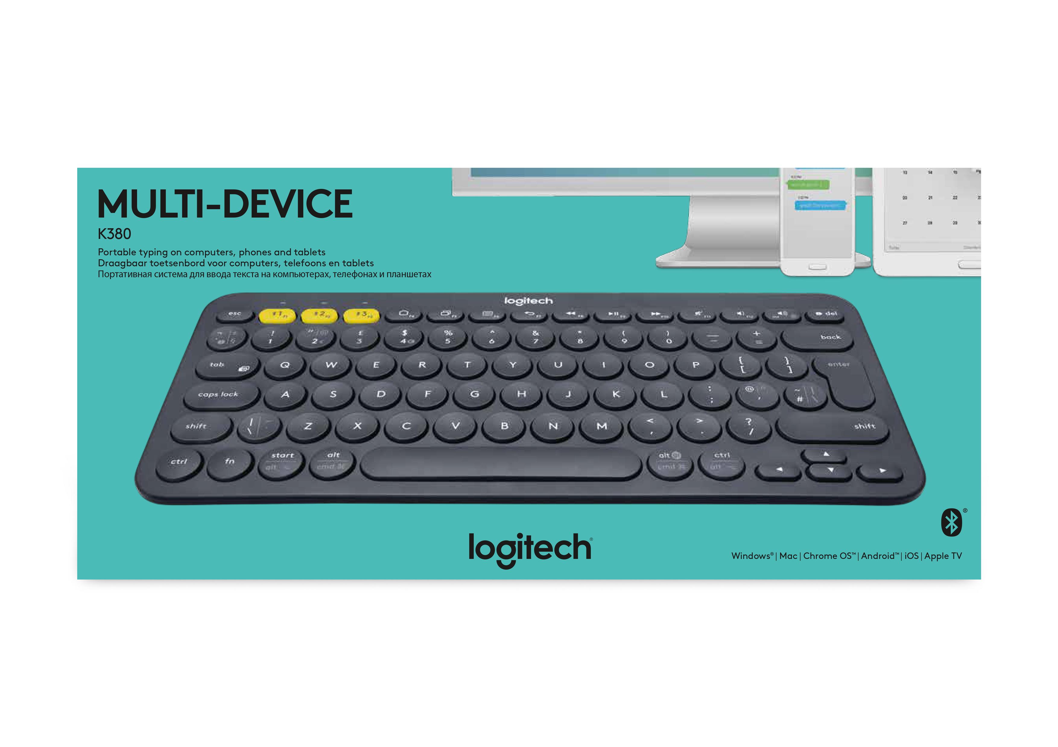 údaje o výrobku Logitech K380 klávesnice Bluetooth AZERTY