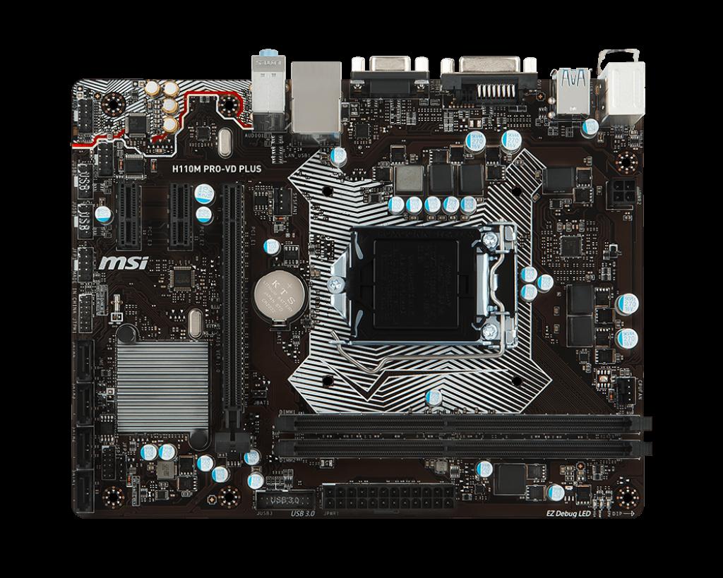 Intel/® H110 Micro ATX Presa H4 MSI H110M PRO-VH PLUS scheda madre LGA 1151
