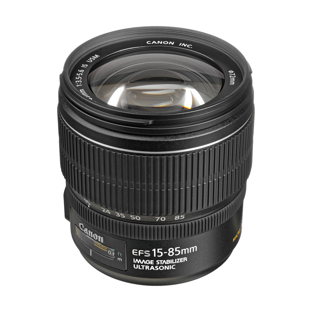 Canon EF-S 15-85mm f//3.5-5.6 IS USM SLR, 17//12, Zoom est/ándar, Ring USM, Canon EOS 300D, EOS 350D, EOS 400D, EOS 450D, Negro Objetivo