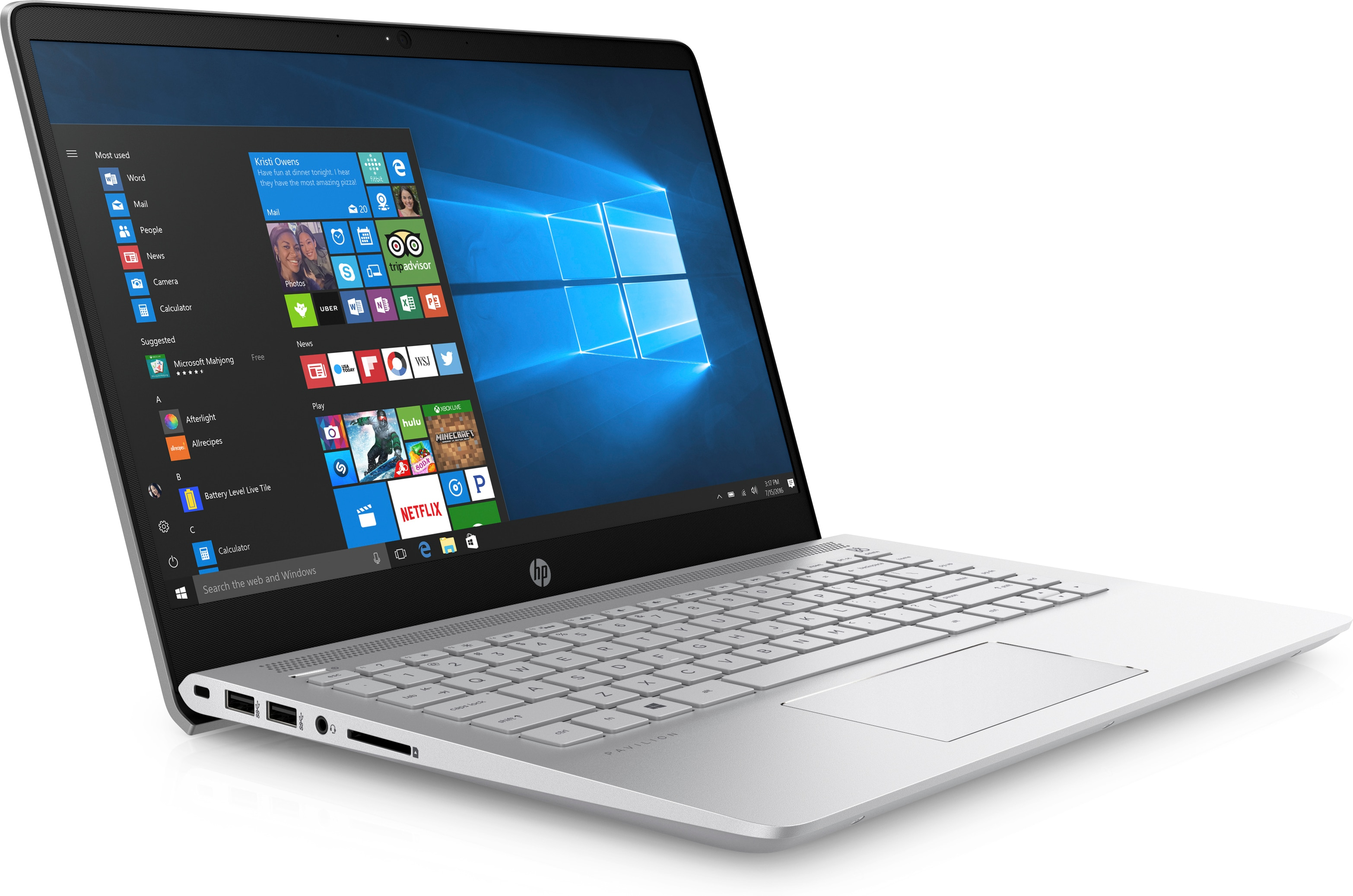 Specs HP Pavilion 14-bf009na Silver Notebook 14