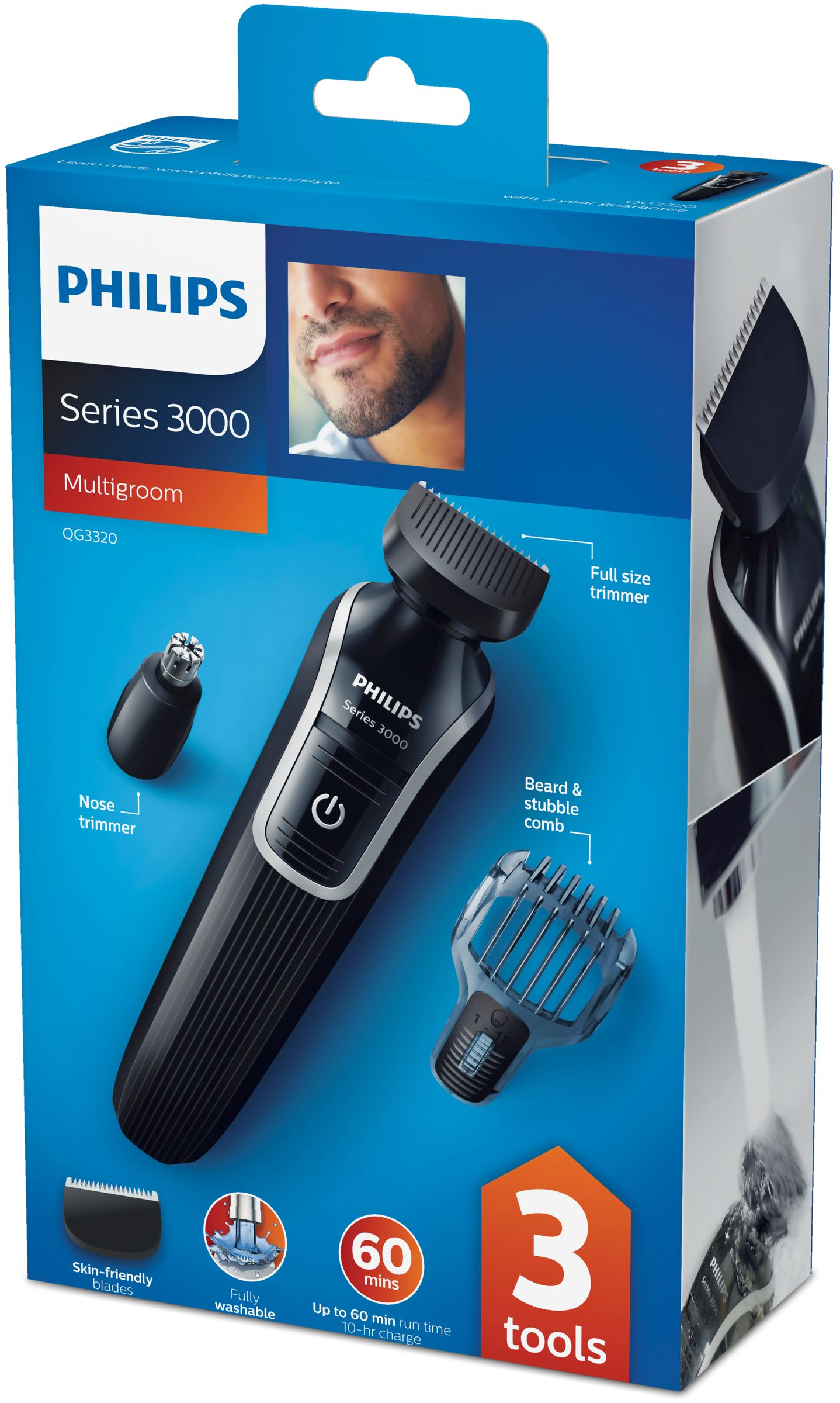 Product datasheet Philips MULTIGROOM Series 3000 3-in-1 Beard ... 2ac04ed77b7c