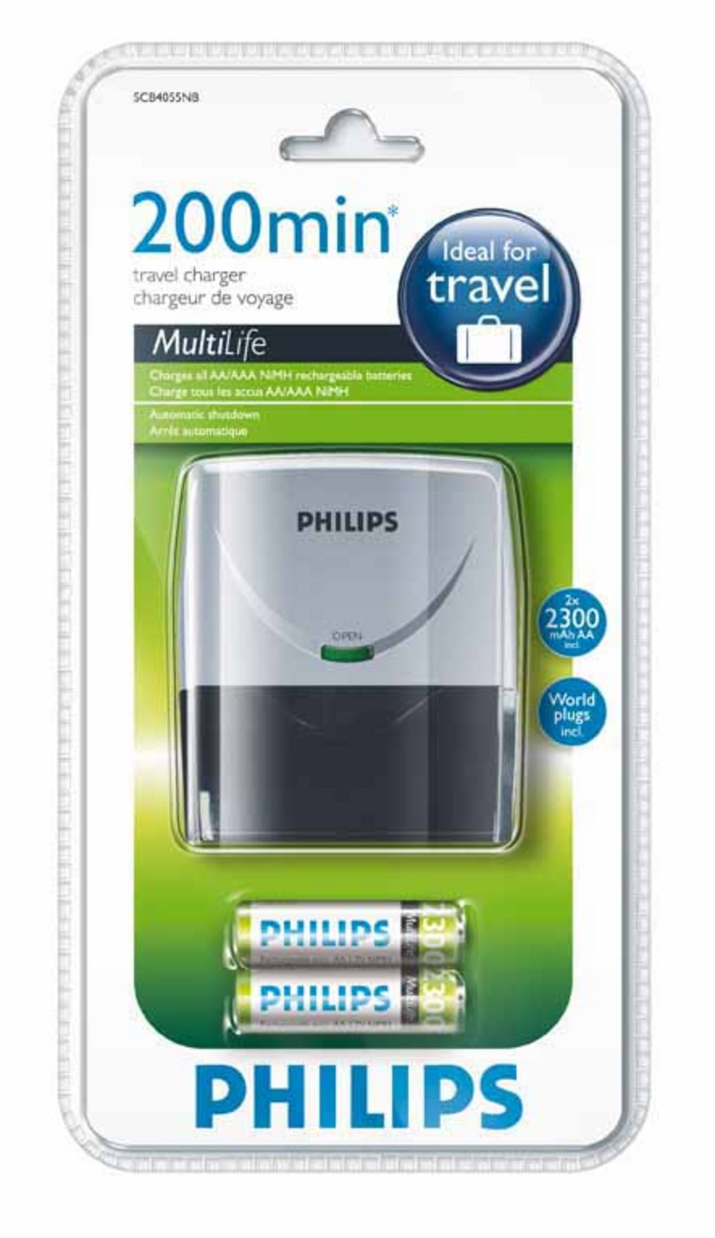 Product data Philips MultiLife SCB4055NB/12 Silver battery ...