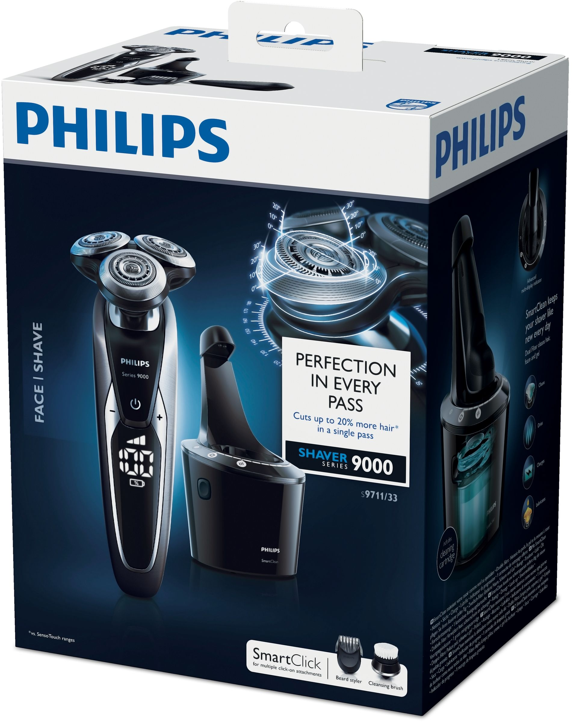 Rasoio Elettrico Philips S9711//32 Series 9000 Wet /& Dry