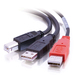 USB 2.0 Y-cable B Male To (2) USB A Male