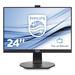 Desktop Monitor - 241b7qpjkeb - 24in - 1920x1080 - Full Hd -  With Webcam & Powersensor