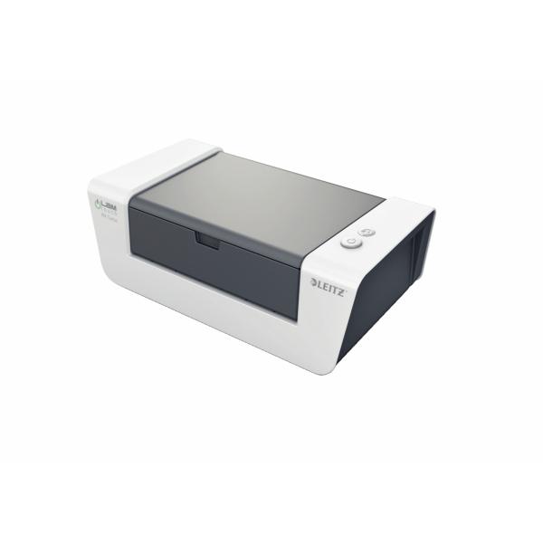 LEITZ Laminator iLam A4 turbo Folienstaerke 80-250mm max1mm dick Geschwindigkeit 700mm pro min 26 Sekunden fuer FolienA4 80mic