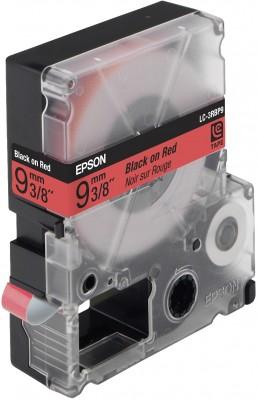 EPSON Schriftband LC3RBP9 standard schwarz auf rot 6mm fuer Label Works 900P, LW300,LW400