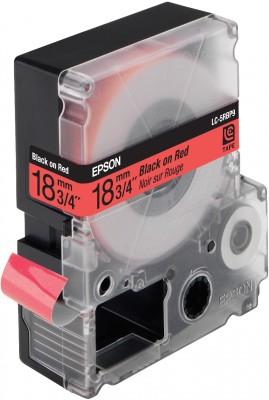 EPSON Schriftband LC5RBP9 pastell schwarz auf rot 18mm fuer Label Works 900P, LW400