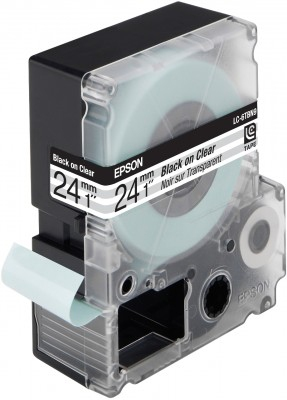 EPSON Transparentetikettenkassette ? LC6TBN9 Clear Blk/Clear 24/9