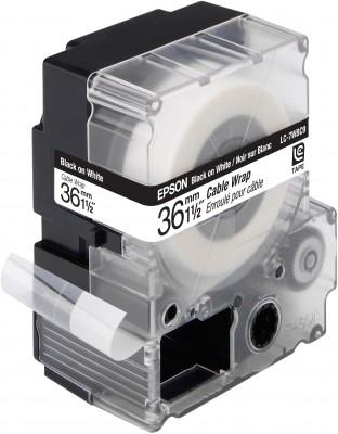 EPSON Etikettenkassette Band für Kabelkennzeichnung ? LC7WBC9 Cable wrap Blk/Wht 36/9