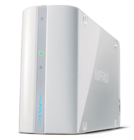 BUFFALO LinkStation Mini 2TB RAID 0/1 6,4cm 2,5Zoll Festplatte Compact Multimedia Network Storage weiss