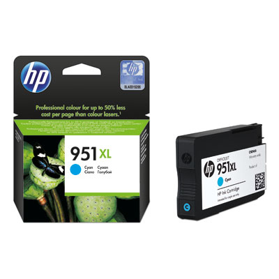 Inktpatroon HP 951XL originele high-capacity cyaan inktcartridge