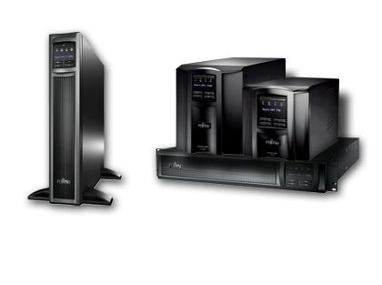 FUJITSU PY UPS 750VA/500W Tower Line Interactive VI USV schwarz 8x IEC320 C13 10A zwei Steckdosen 1xIEC320 C14 10A