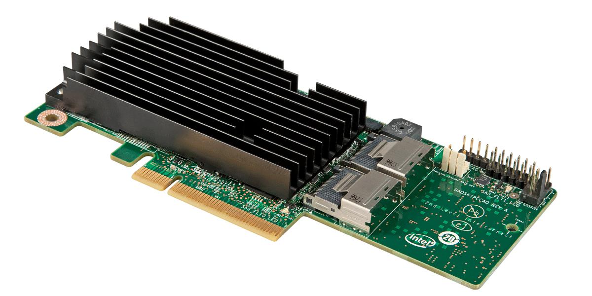 INTEL RMS25KB080 PCIe slot SAS Module 8 Port SAS 2.1 version Entry level HW RAID straight SAS IOC