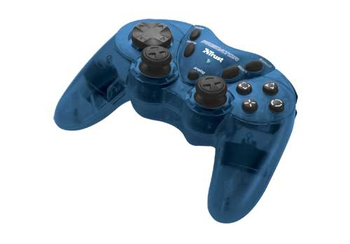 PC, Trust Gamepad, GM-1520T Dual Stick Gamepad (Blue) PC / PS2
