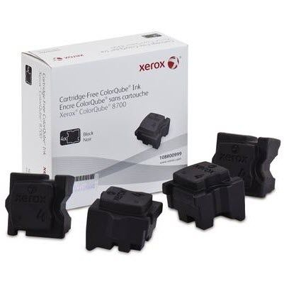 Xerox Genuine ColorQube 8700/8900 Solid Ink Black(4 Sticks, Yield 9,000 Pages)