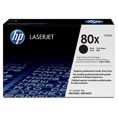 Laser Toner HP 80X originele high-capacity zwarte LaserJet tonercartridge