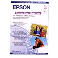 Epson A3 Premium Glossy Photo Paper; A3; 255 g/m; 965 g; 435 x 310 x 10 mm image