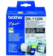 BROTHER P-Touch DK-11209 die-cut adress label small 29x62mm 800 labels