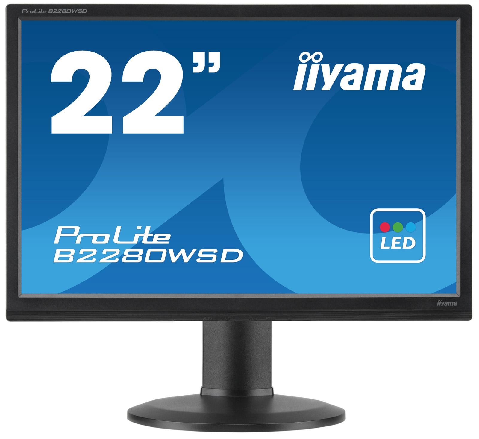 IIYAMA ProLite E2280WSD 55,88cm 22 Zoll LED 5ms VGA DVI 250cd/m  Lautsprecher Schwarz
