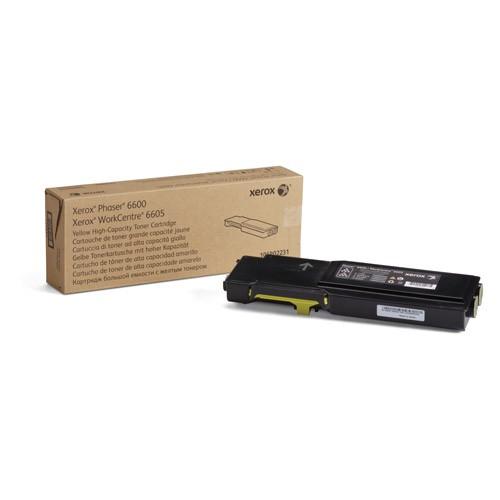 Laser Toner Xerox Phaser 6600/WorkCentre 6605 Tonercartridge met hoge capaciteit, geel (6.000 pagina's)