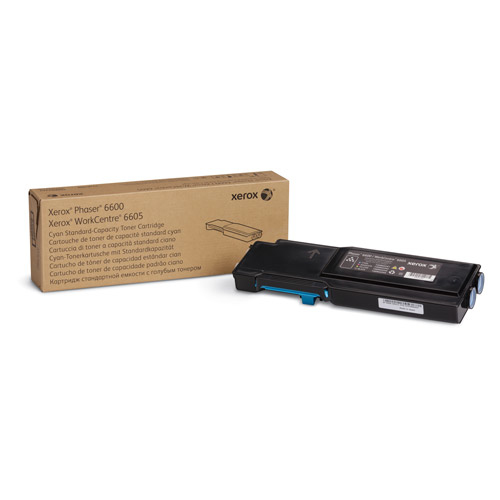 Laser Toner Xerox Phaser 6600/WorkCentre 6605 Standaard tonercartridge cyaan (2.000 pagina's)