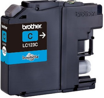 BROTHER LC-123 Tinte cyan Standardkapazit�t 600 Seiten 1er-Pack