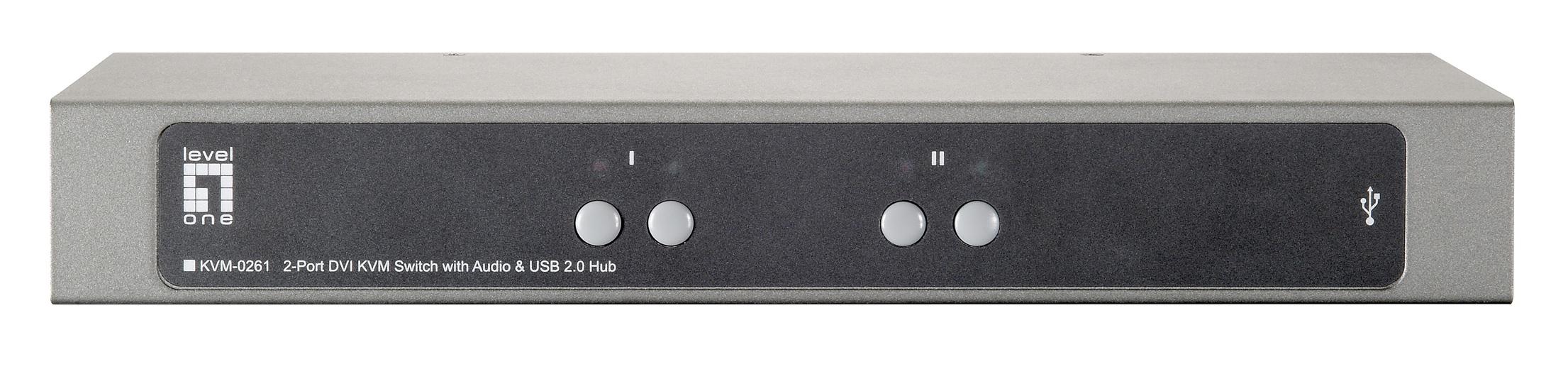 LEVEL ONE KVM-0261 2-Port High Resolution DVI USB KVM