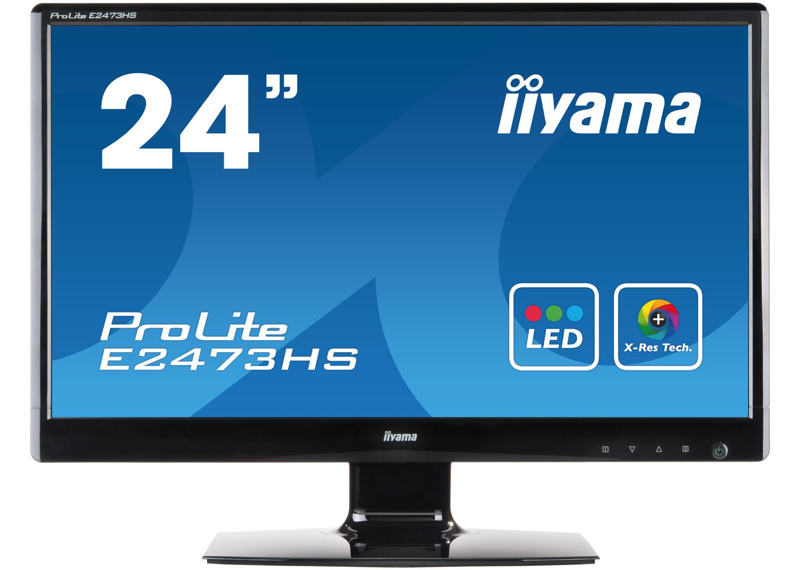 iiyama E2473HS-GB1 ProLite, 599.4 mm (23.6 ), 2 ms, 300 cd/m², 2 W, Black, Kensington