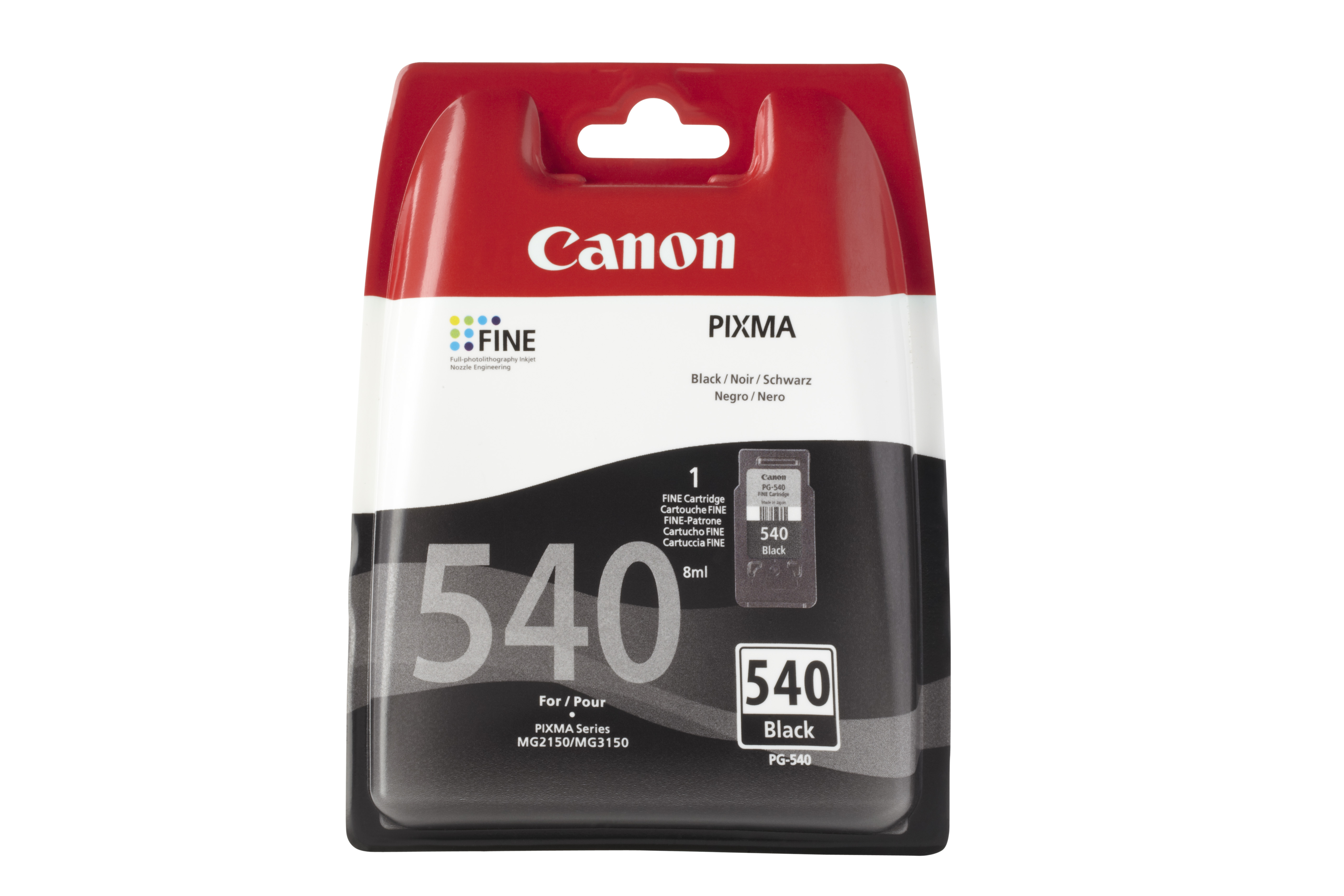 CANON PG-540 Tinte schwarz Standardkapazit�t 1-pack blister ohne Alarm