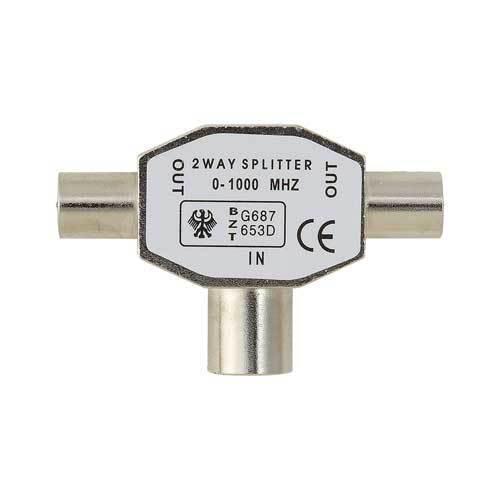 Splitter Belkin Splitter Antenna TV Coax/2xCoax M/F