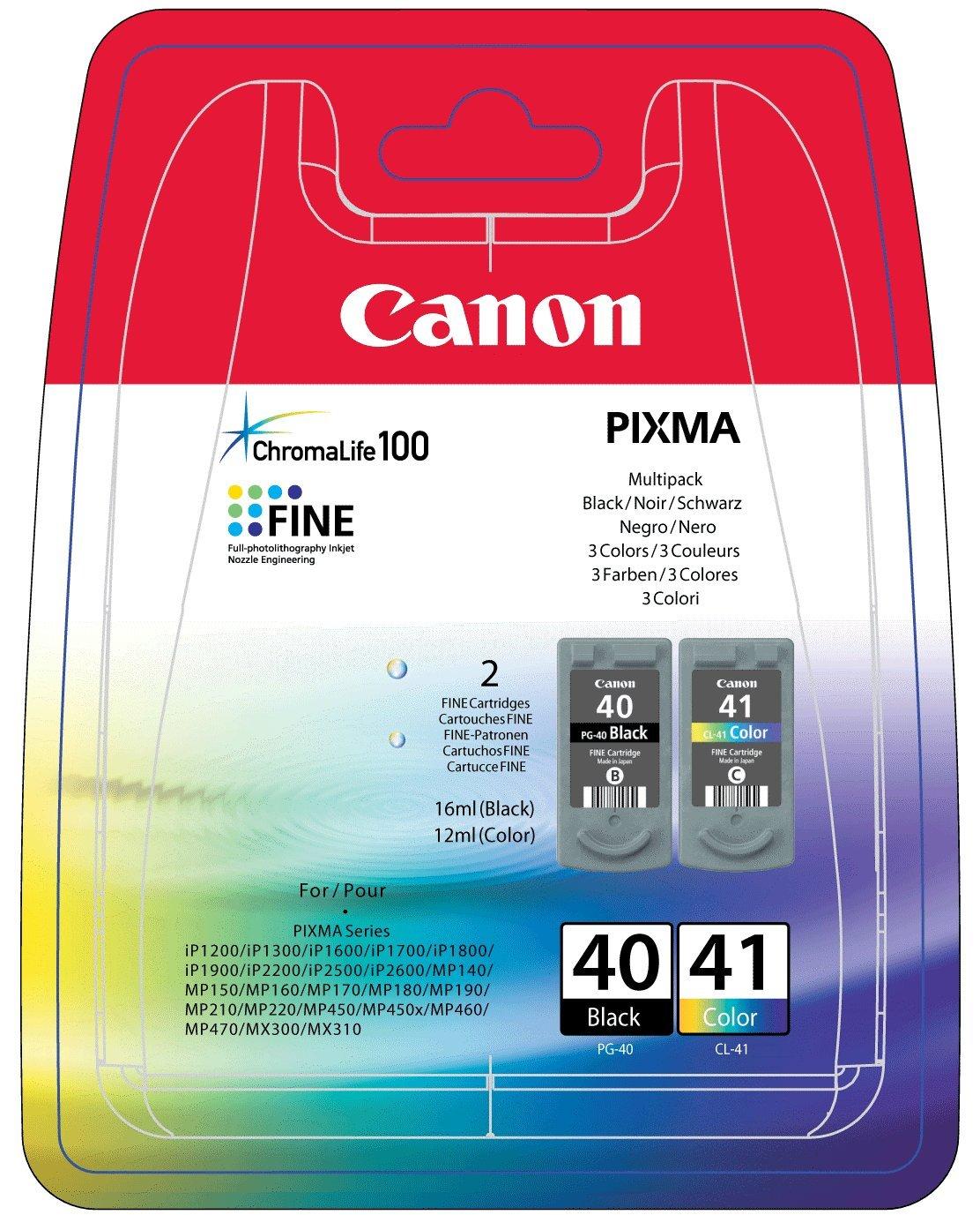 CANON PG-40 / CL-41 Tinte schwarz und farbig Standardkapazität combopack blister ohne Alarm