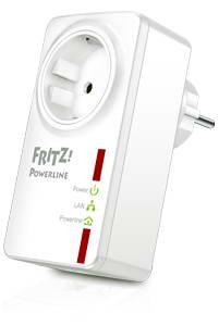 AVM FRITZ!Powerline 530E Set - 2x Netzwerkadapter f.Steckdose - bis zu 500 MBit/s - AES 128-Bit Verschluesselung -  integr.Steckdose
