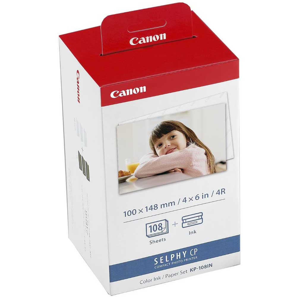 CANON KP-108IN Foto Papier natural inkjet 100x148mm 108 Blatt 1er-Pack with ink cassette