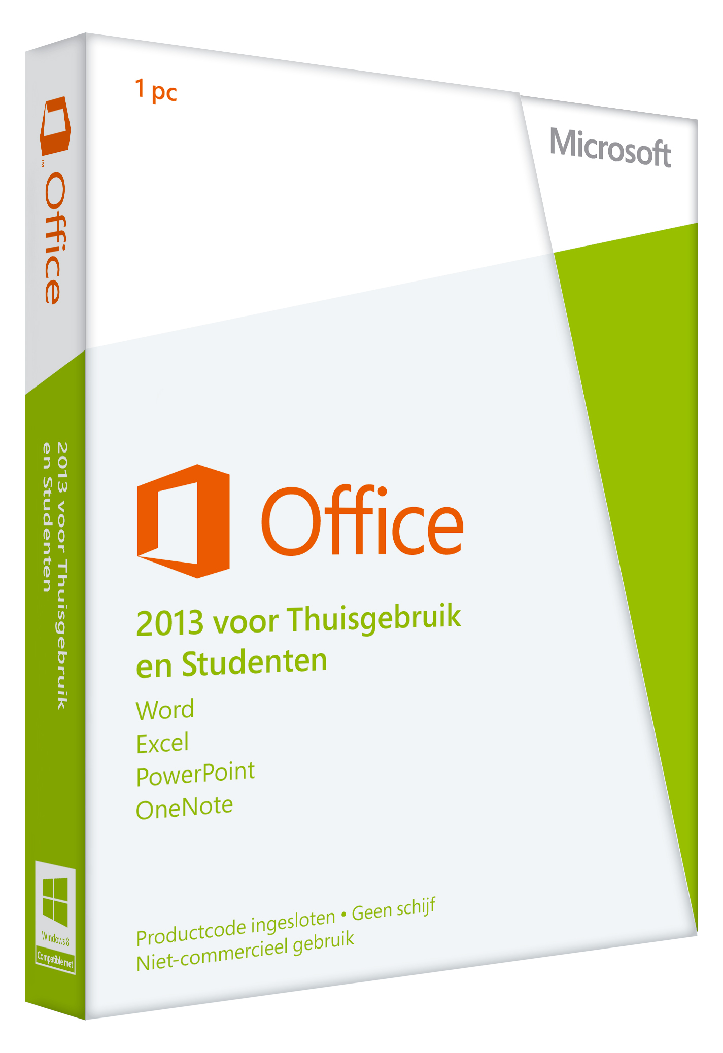 Office 2013 Home and Student Dutch, Microsoft