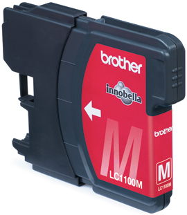 BROTHER LC-1100 Tinte magenta Standardkapazit�t 7.5ml 325 Seiten 1er-Pack