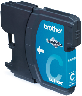 BROTHER LC-1100 Tinte cyan Standardkapazit�t 5.5ml 325 Seiten 1er-Pack