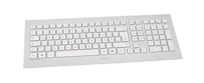 CHERRY DW 8000 Wireless MultiMedia Desktop 2,4 GHz USB silver/white (DE)