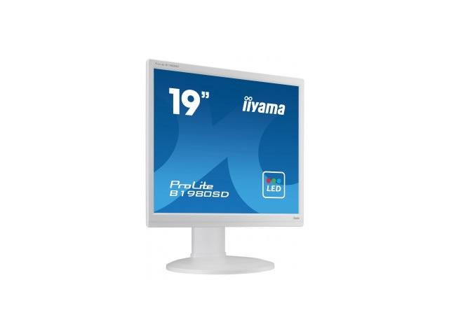 IIYAMA ProLite B1980SD 48,3cm 19Zoll LED 5ms DVI 250cd/m² Lautsprecher Hoehenv. Pivot Weiss