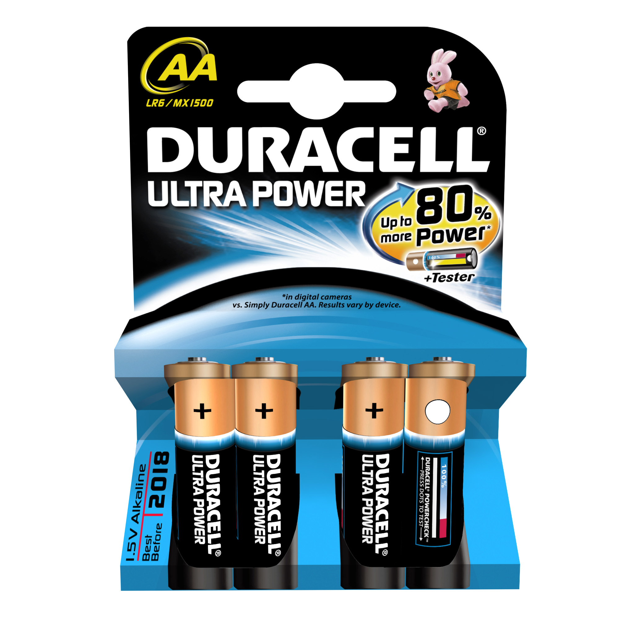 AA Duracell Ultra Power (4-Pack)