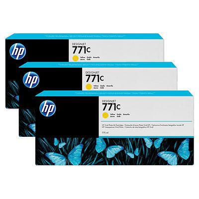 HP 771C Original Tinte gelb Standardkapazität 3 x 775ml 3er-Pack