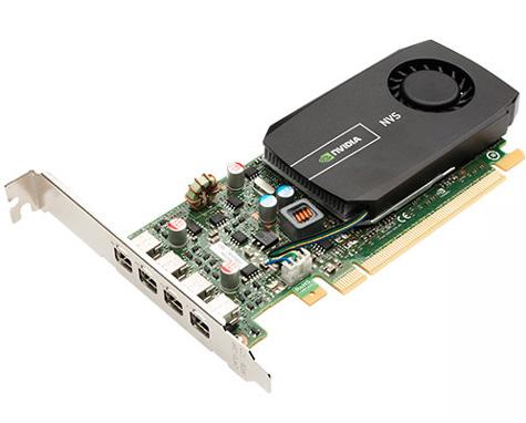 FUJITSU NVIDIA Quadro NVS 510 2GB Anschluesse 4xminiDP PCIe x16 4xminiDP/DP Adapterkabel beiliegend